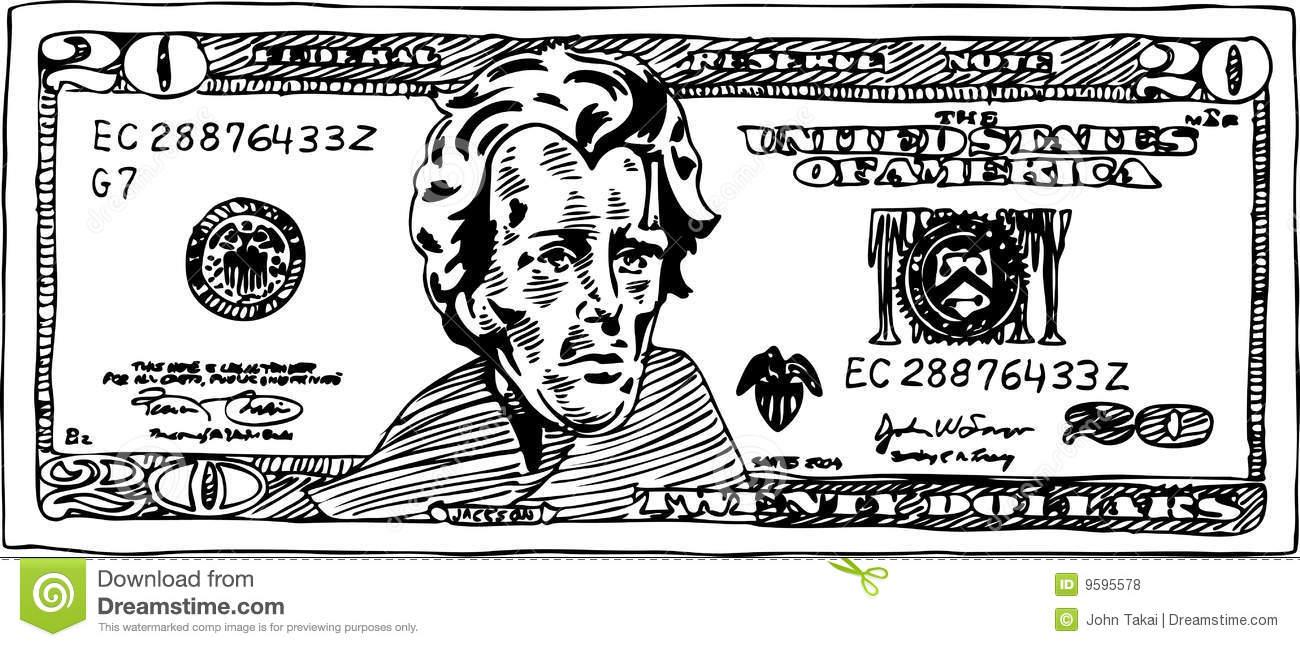 20 Dollar Bill Clip Art