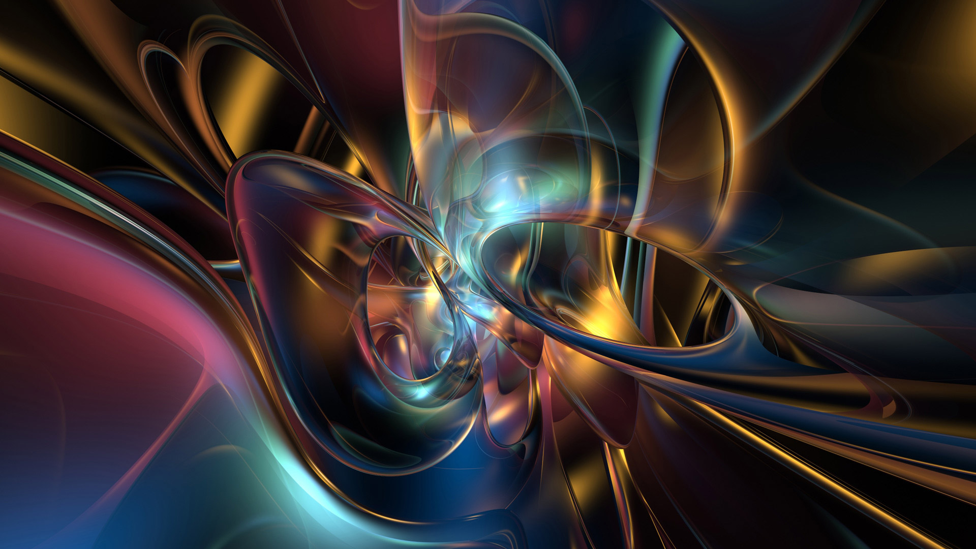 3D Abstract Art Desktop Wallpaper 1080P