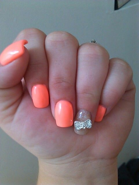 16 3D Bow Nail Designs Images