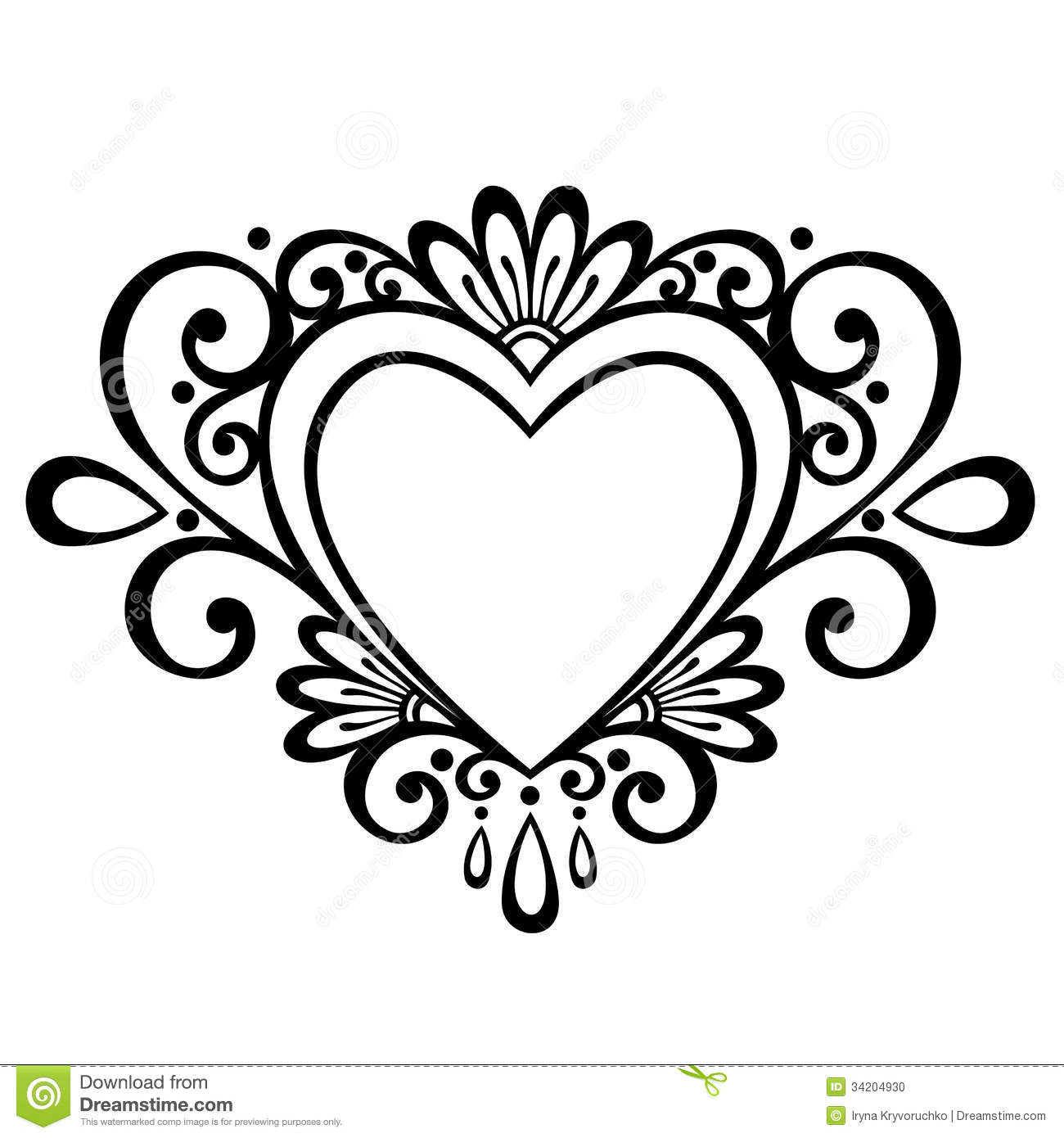 Abstract Heart Design Clip Art