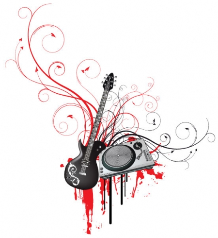 15 Music Abstract Vector Design Images
