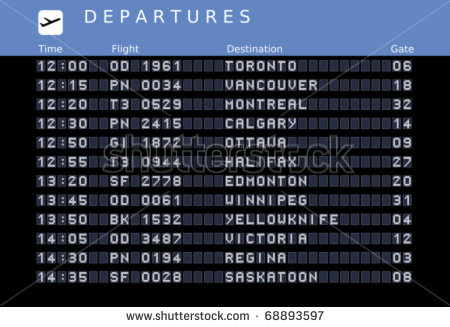 Airport Arrivals and Departures Board