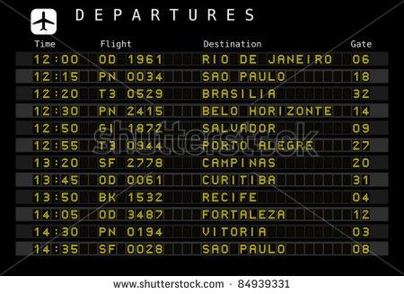 Airport Departure Board Font