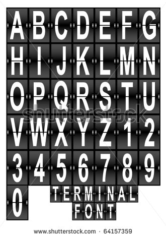 Airport Display Board Font