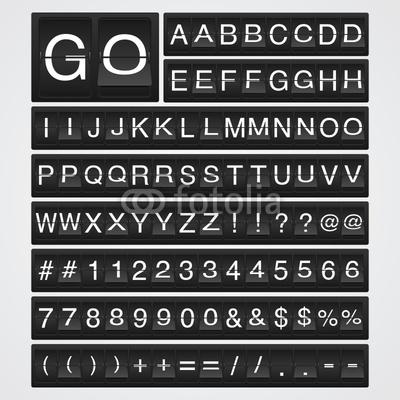 Airport Flip Board Font