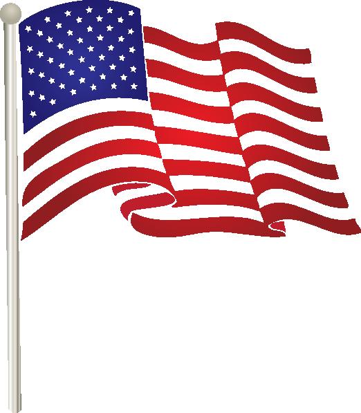 11 American Flag Waving Vector Clip Art Images