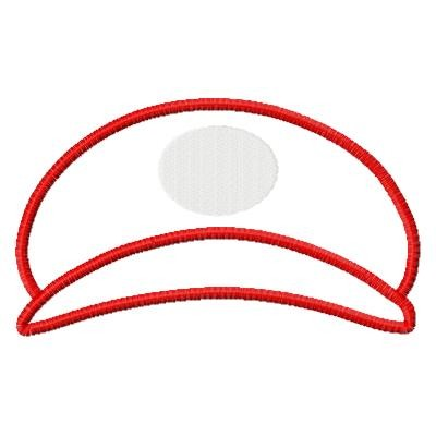 Baseball Cap Applique Design