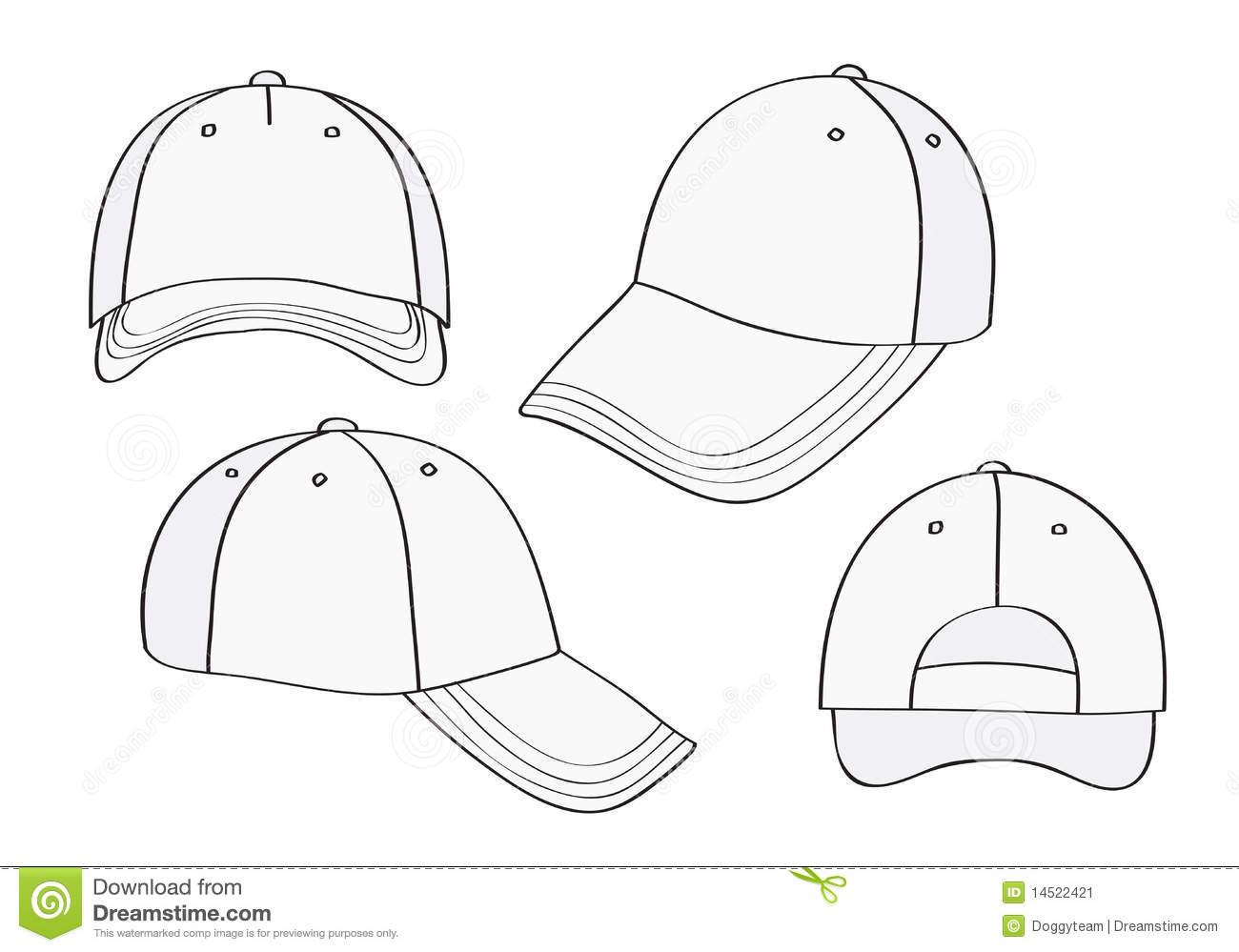 Baseball Hat Design Template