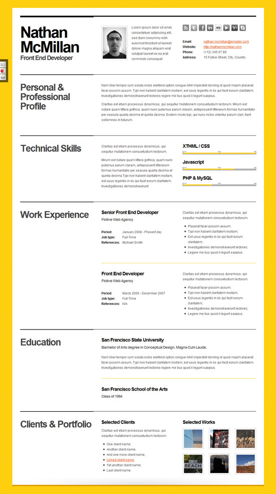 Best Resume Format Template