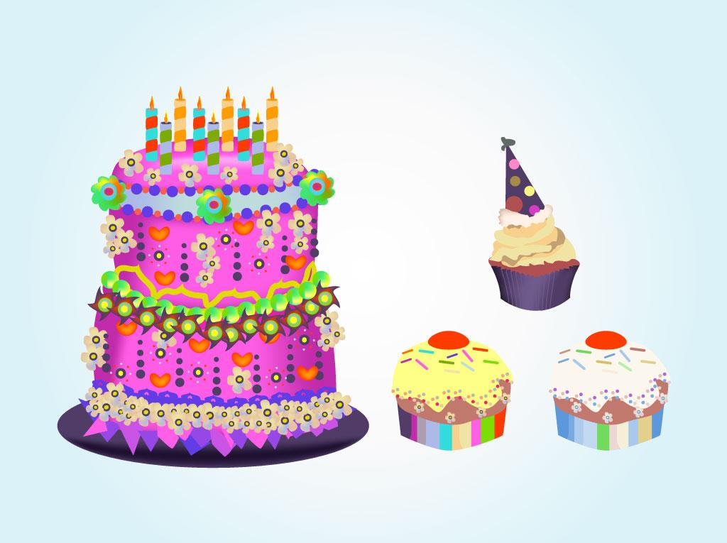 Birthday Cake Clip Art Vector