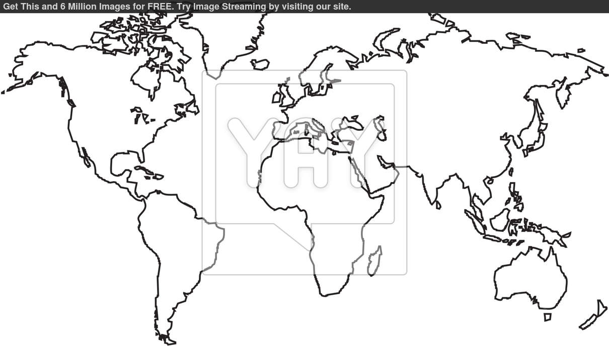 13 world map outline vector images world map outline continents black and white world map outline gumiabroncs Gallery