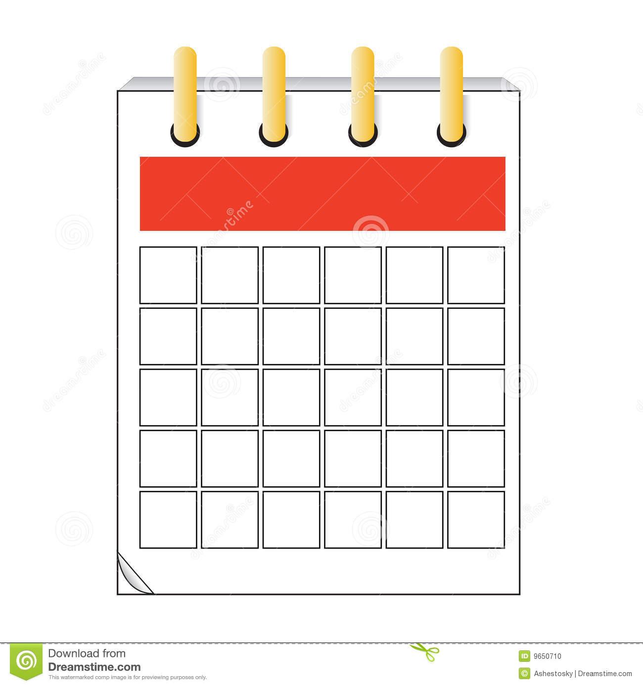 Blank Calendar Icon Clip Art