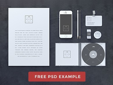 Blank Stationery Branding Mock Up Psd