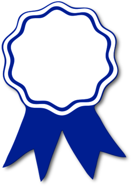 Blue Ribbon Award Clip Art