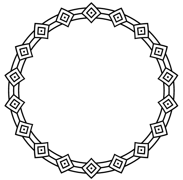 Border Circle Frame Vector Art