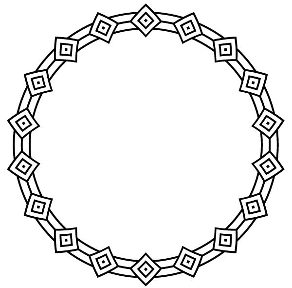 Border Circle Frame Vector Art