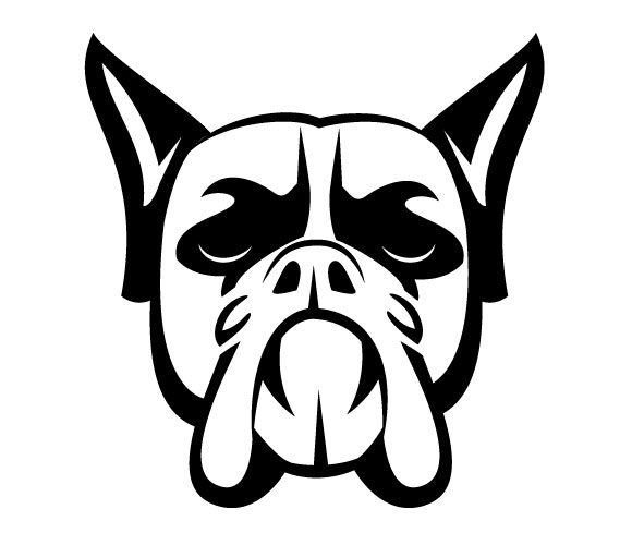 14 Dog Head Vector Images