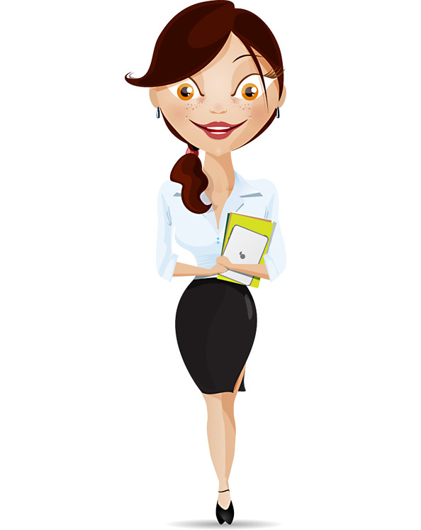 Business Women Cartoon Characters
