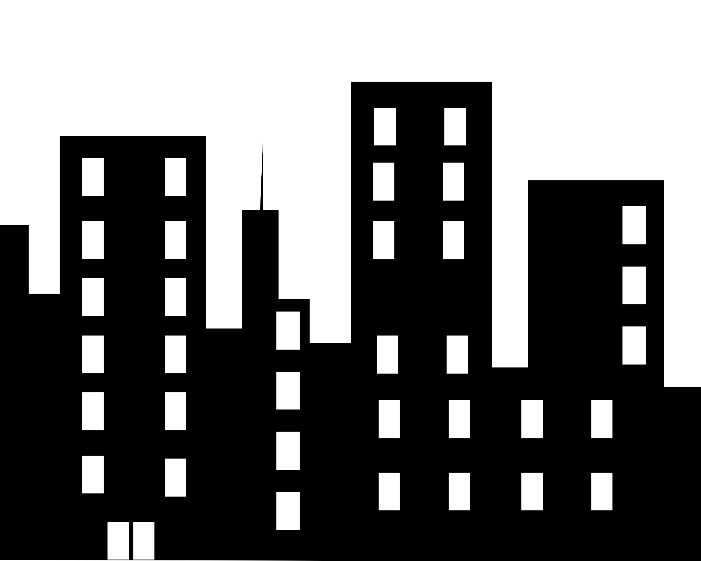13 City Office Building Icon Images
