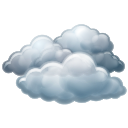 17 overcast weather icon images cartoon of cloudy