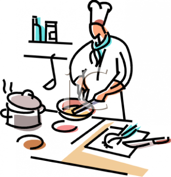 Chef Cooking Food Clip Art