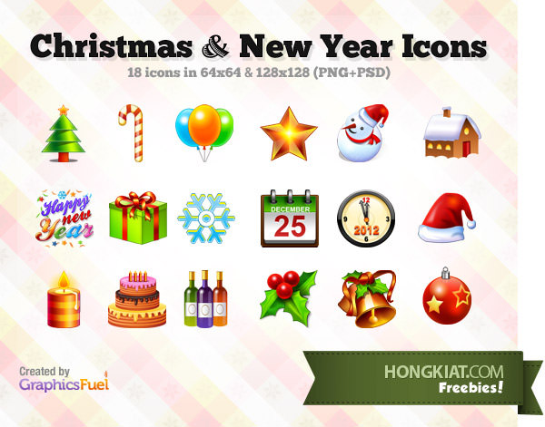 Christmas and New Year Icon