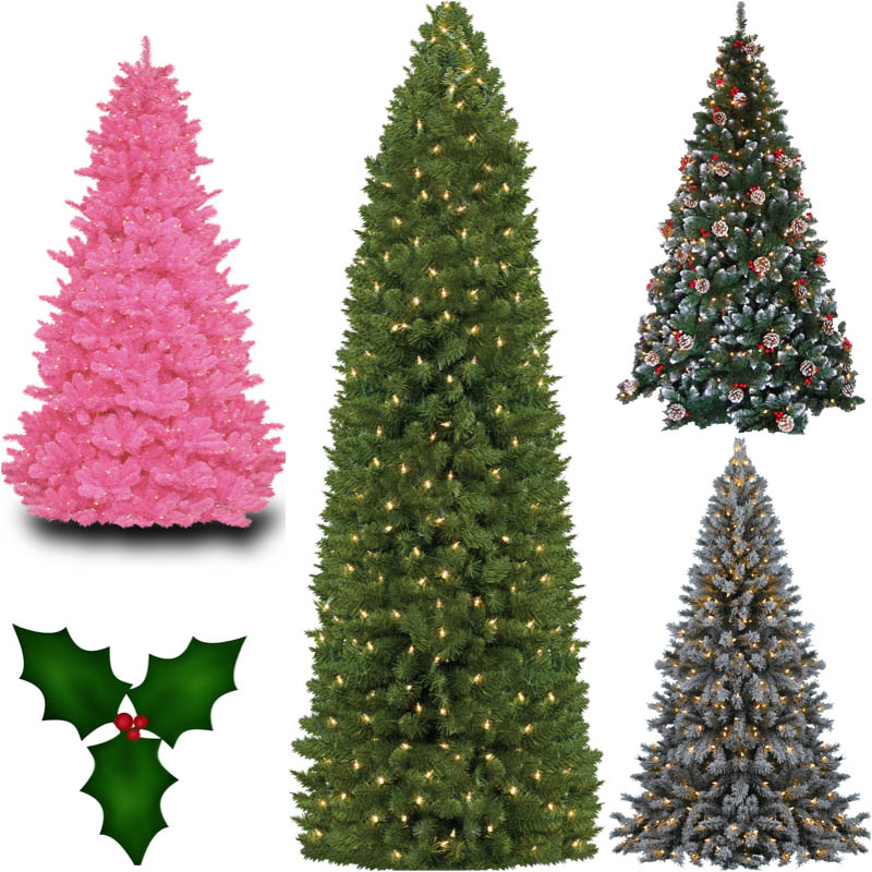 7 PSD Christmas Tree Clip Images