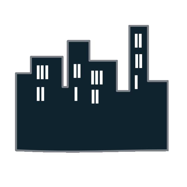 9 Blue Skyline Icon Images