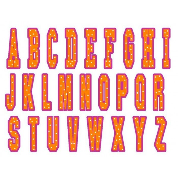 College Applique Font Embroidery