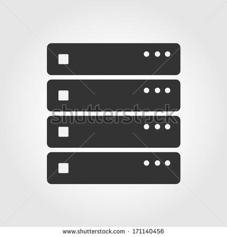Computer Server Icon Flat