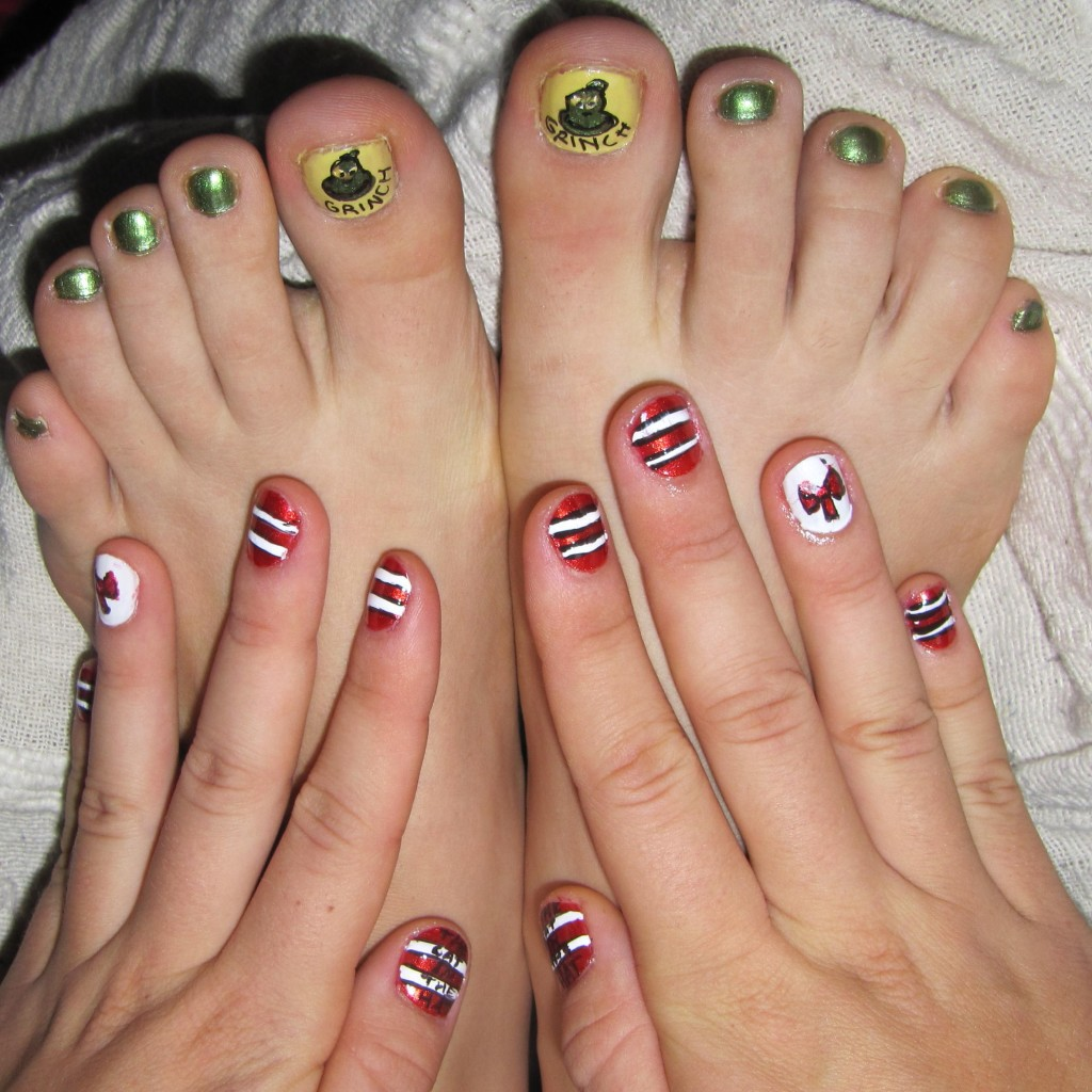 Christmas Toes Nails Designs Easy Papillon Day Spa