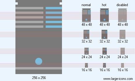 Database Server Icon Flat