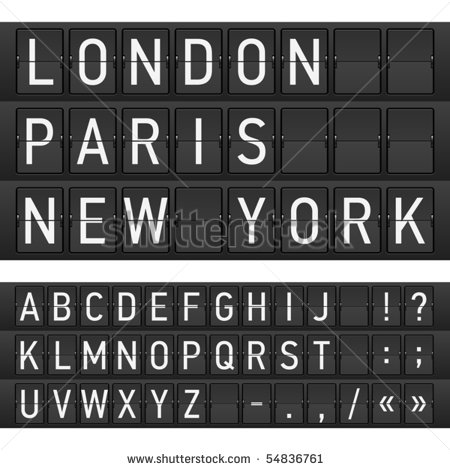 Departure Board Letters Free Vector