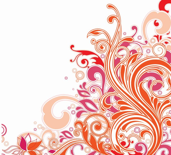12 Vector Floral Swirl Clip Art Images