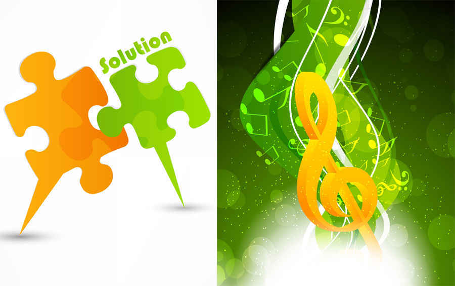 10 Creative Music Background Vector Images