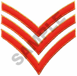 Embroidery Design Sergeant Stripes