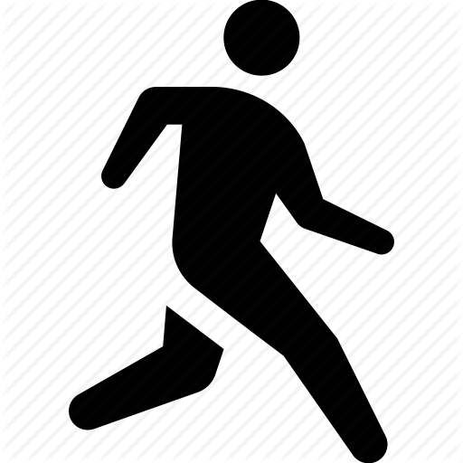 9 Running Exercise Icons Images Man Running Clip Art