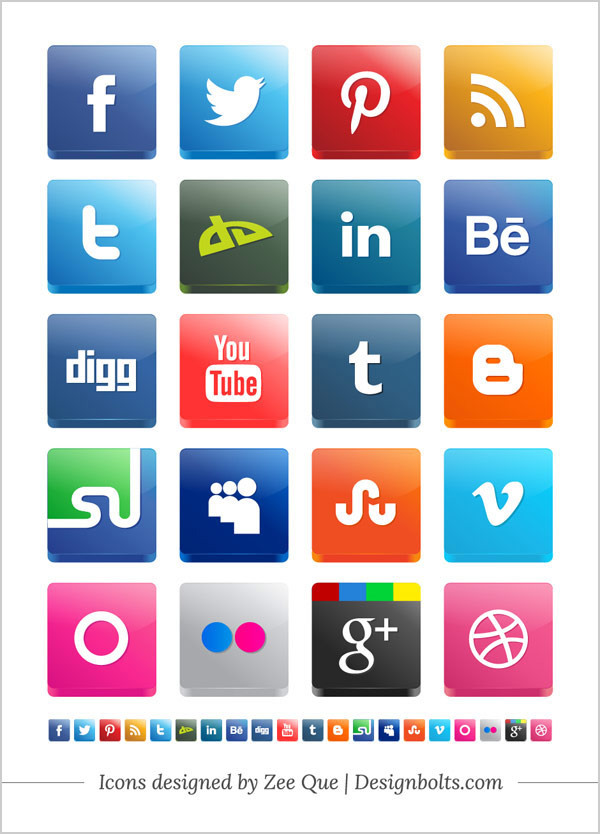 9 Social Media Icons 2013 Images