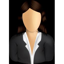 Female Business User Icon