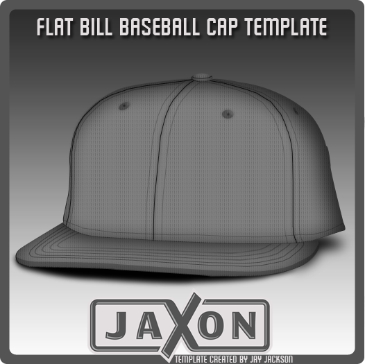 Flat Bill Hat Template for Photoshop