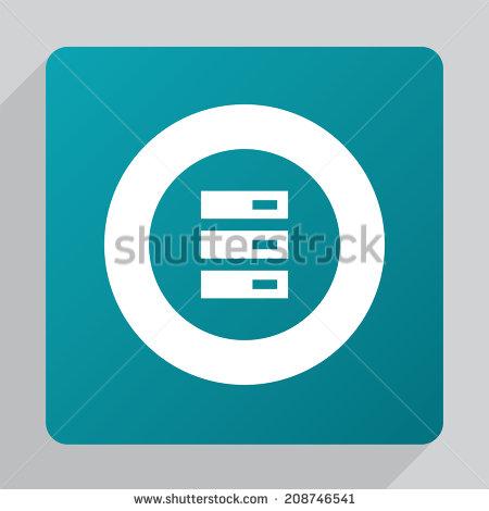 Flat Server Icon