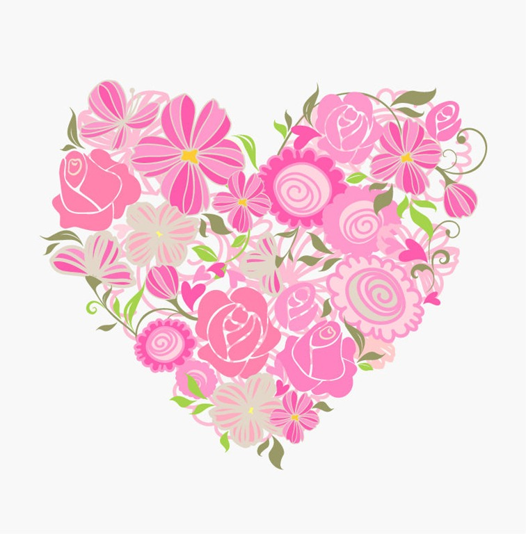 Floral Heart Vector Graphic Free