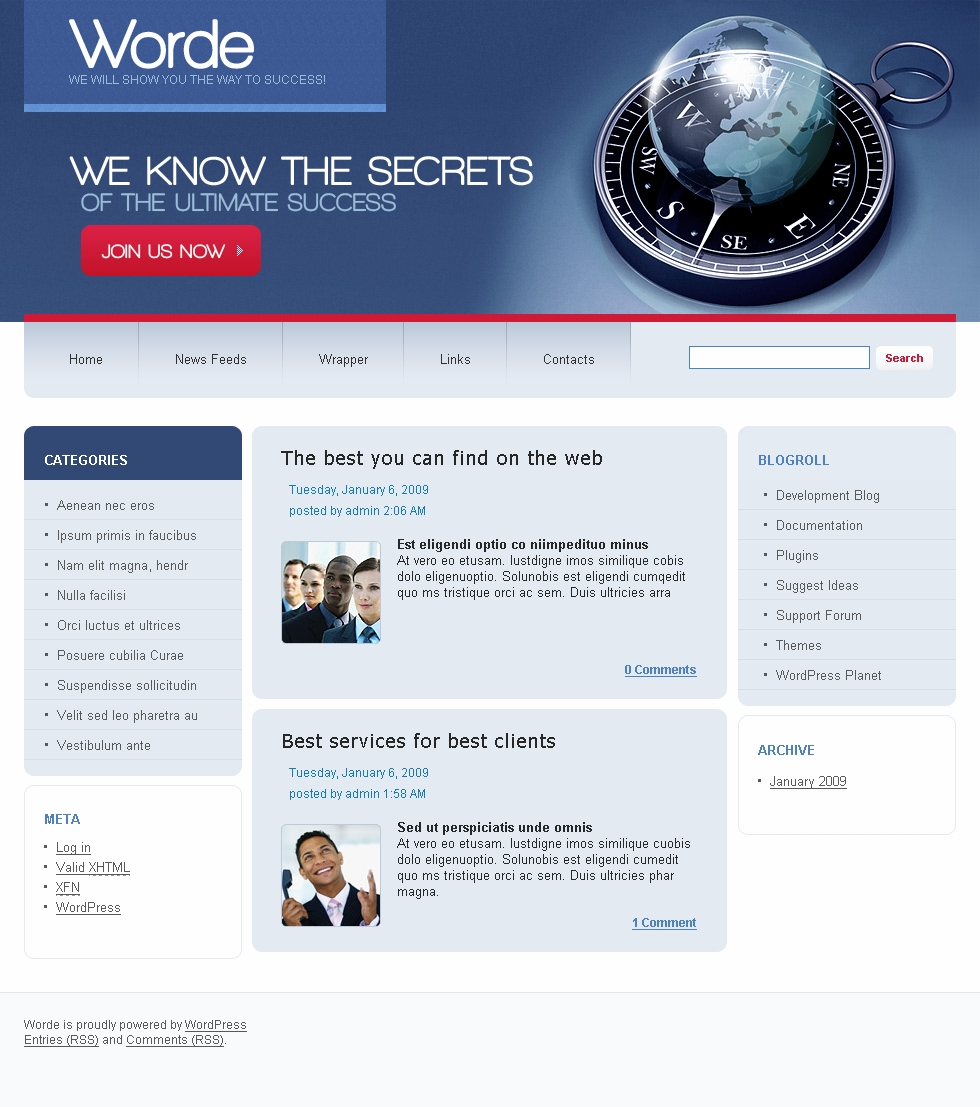 Free Business HTML Website Templates Download