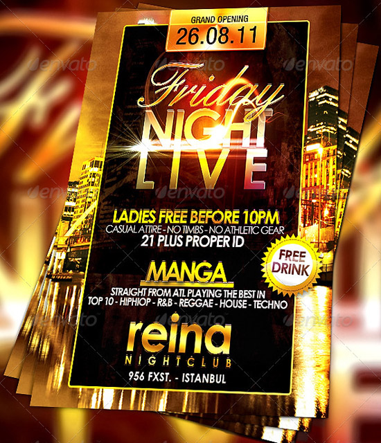 17 Nightclub Flyer Template PSD Images