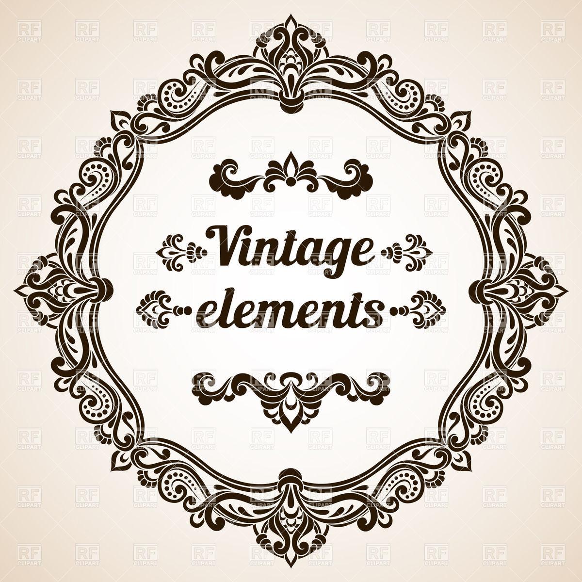 Free Ornate Vintage Frame Vector