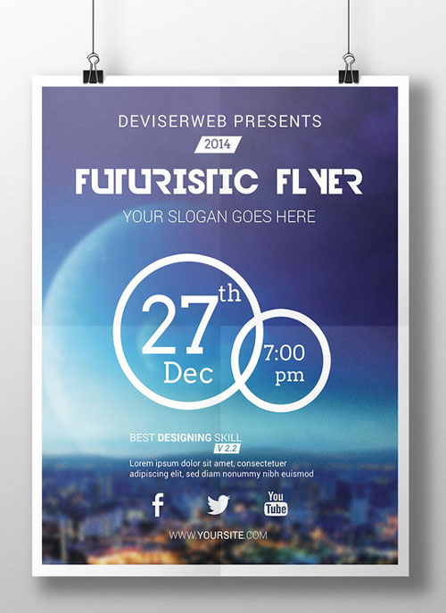18 Free-Floating Flyer PSD Template Images