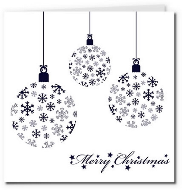 image about Printable Christmas Cards Black and White named Xmas Lighting Border Black And White. Classy Vector