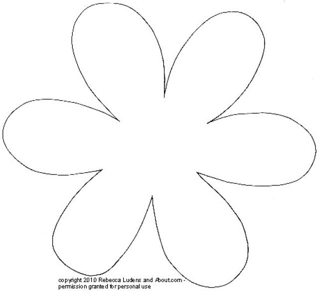 picture about Free Printable Flower Template named 15 Printable Flower Types Programs Visuals - Paper Flower
