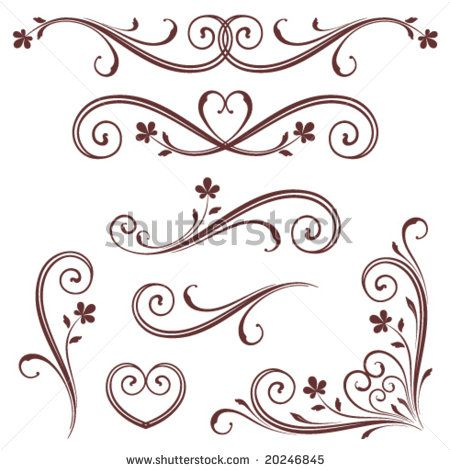 picture relating to Free Printable Scroll Saw Templates identify 14 No cost Printable Scroll Options Photos - Scroll Applique