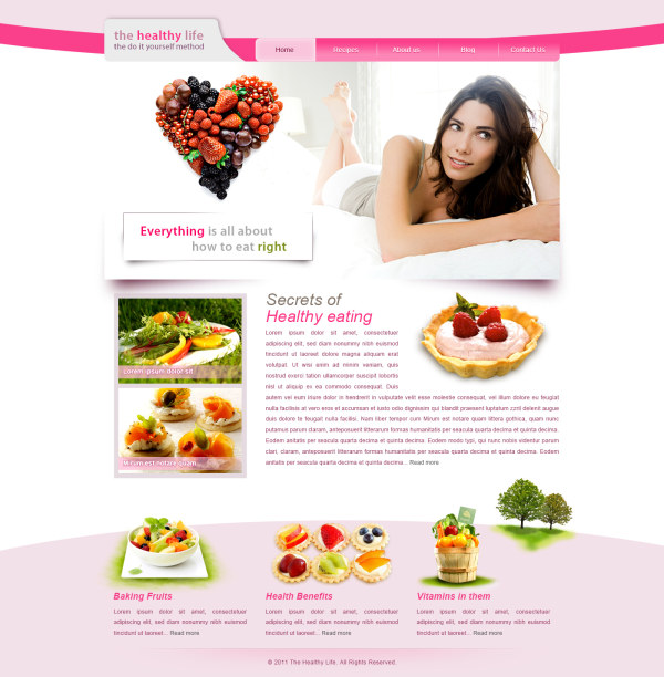 Free PSD Web Design Templates Healthy